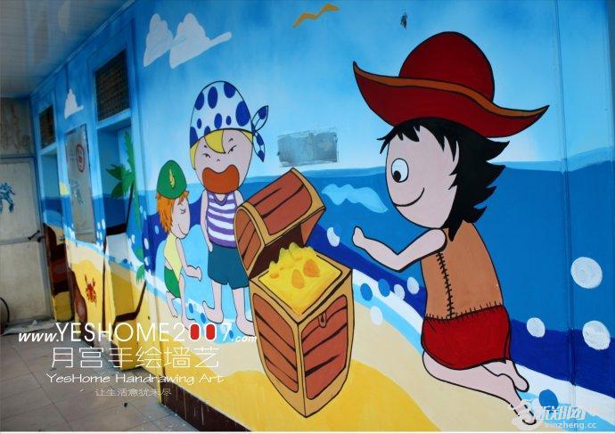 手绘墙画是指在建筑墙面上通过传统绘画技法绘制而成的画.